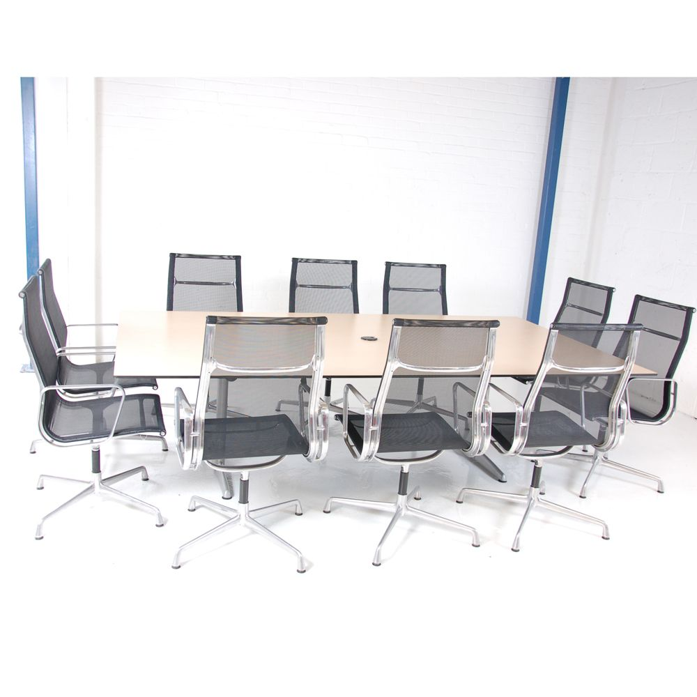 Ahrend 10 Seater Boardroom Table Maple Meeting Table